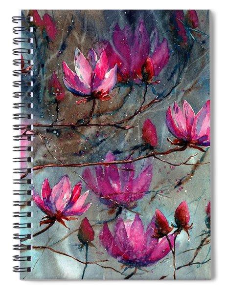 Magnolia At Midnight Spiral Notebook