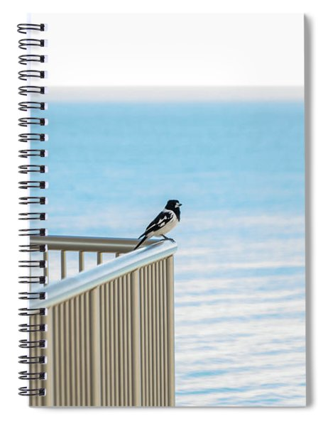Magpie In Waiting Spiral Notebook