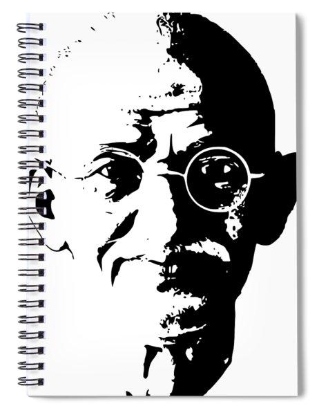 Mahatma Gandhi Minimalistic Pop Art Spiral Notebook