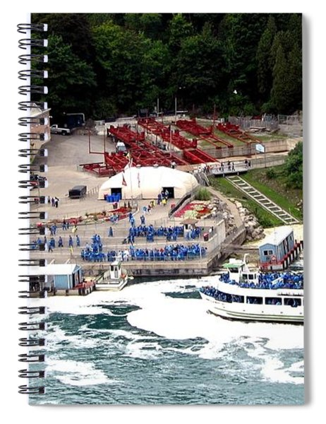 Maid Of The Mist Tour Boat At Niagara Falls Spiral Notebook by Rose Santuci-Sofranko