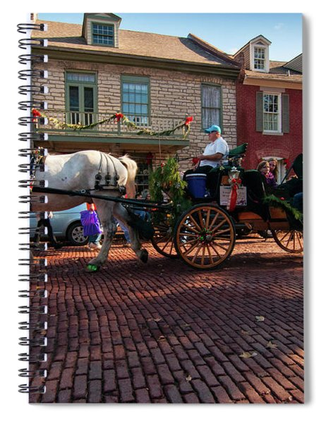 Main Street Carriage Spiral Notebook