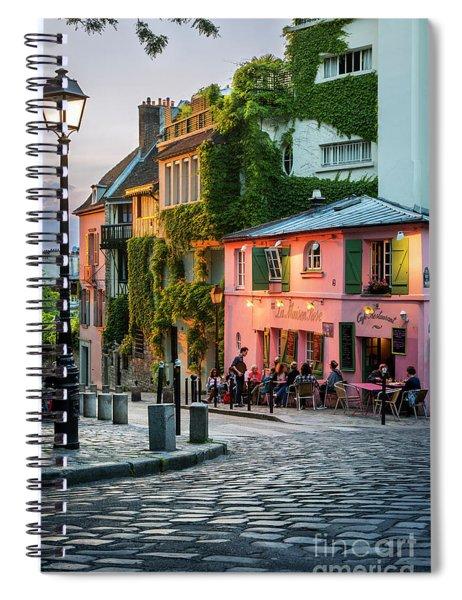 Maison Rose Evening II Spiral Notebook by Brian Jannsen