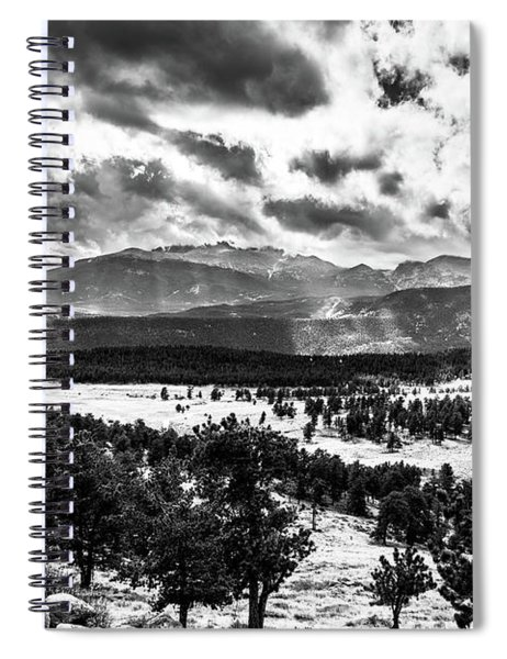 Majestic Clouds Bw Spiral Notebook