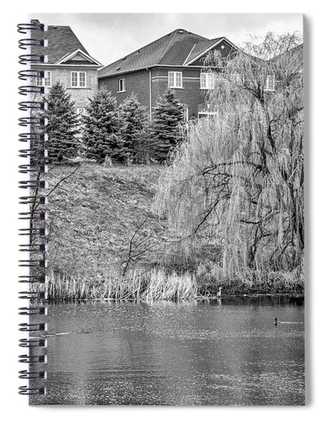 Major Oak Park Bw Spiral Notebook