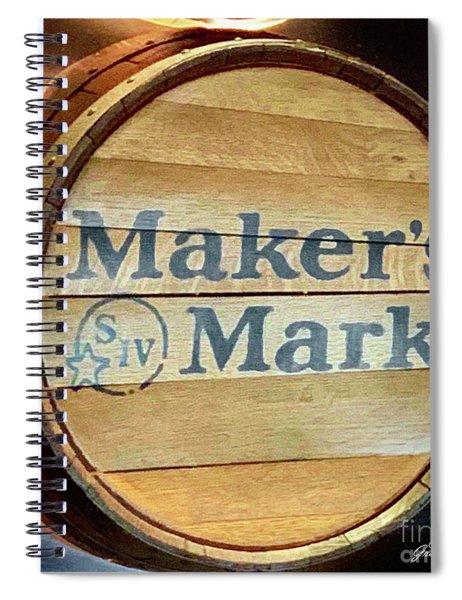 Makers Mark Barrel Spiral Notebook