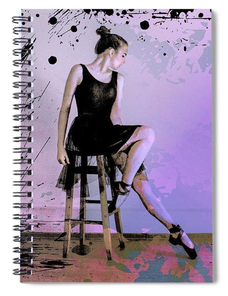 Maksim Grunge Ballet Dancer Spiral Notebook