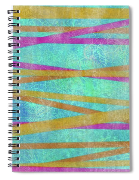 Malaysian Tropical Batik Strip Print Spiral Notebook