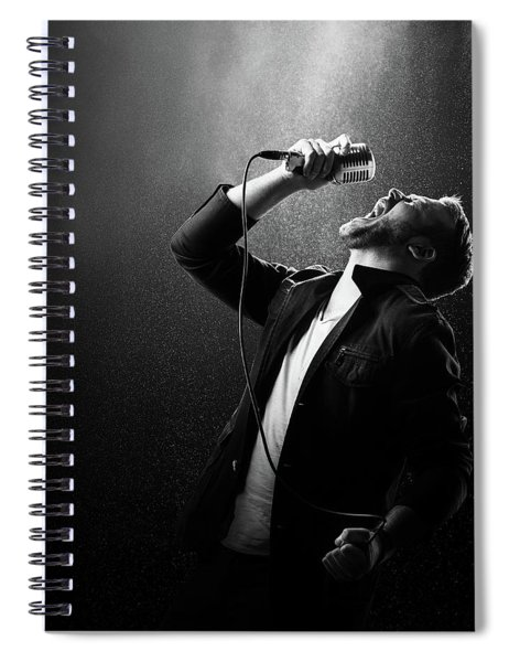 Male Singer Performing Spiral Notebook