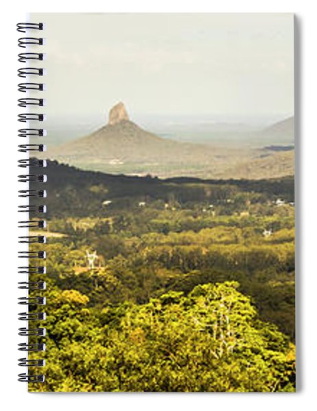 Maleny To The Glass House Mountains Spiral Notebook