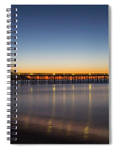 Malibu Pier At Sunrise Spiral Notebook