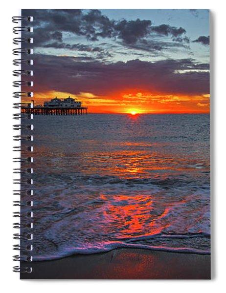 Malibu Pier Sunrise Spiral Notebook