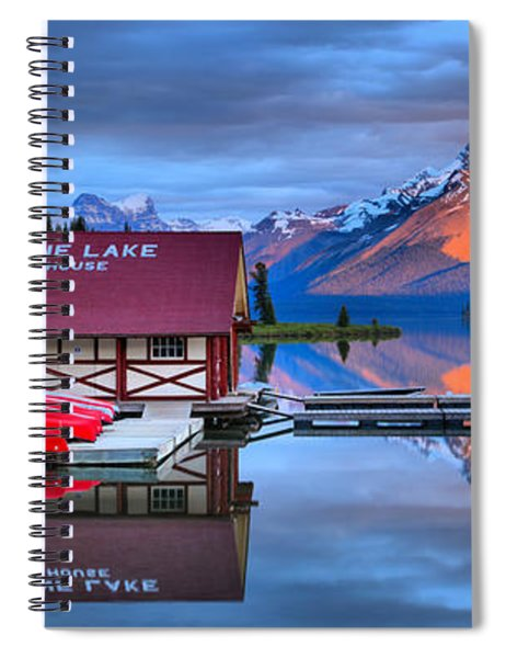 Maligne Lake Sunset Spectacular Spiral Notebook