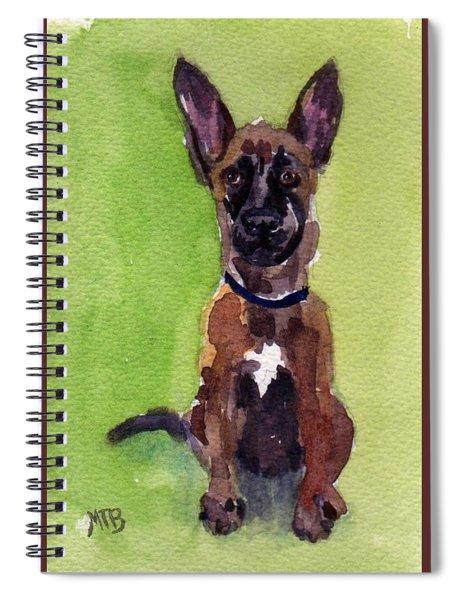 Malinois Pup 2 Spiral Notebook