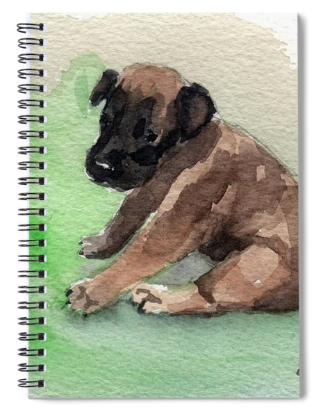 Malinois Pup 3 Spiral Notebook