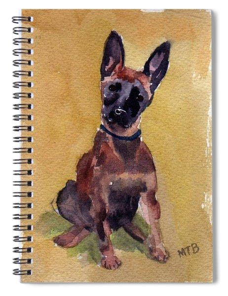 Malinois Pup Spiral Notebook