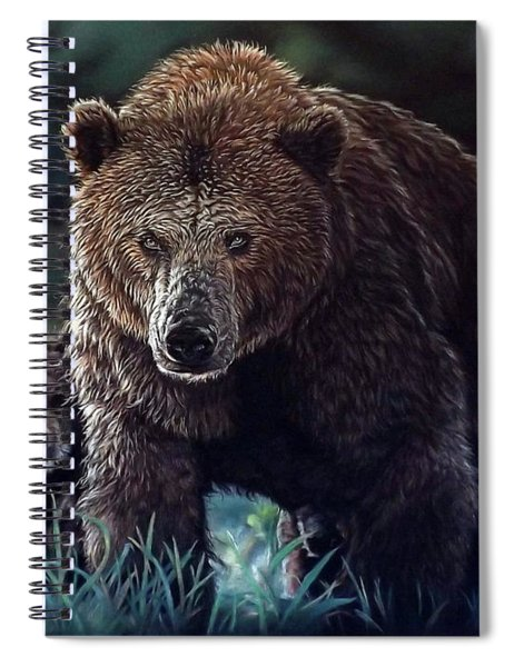 Mama Brown With Cubs Spiral Notebook