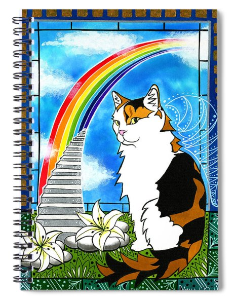 Mama Turtle - Cat Painting Spiral Notebook
