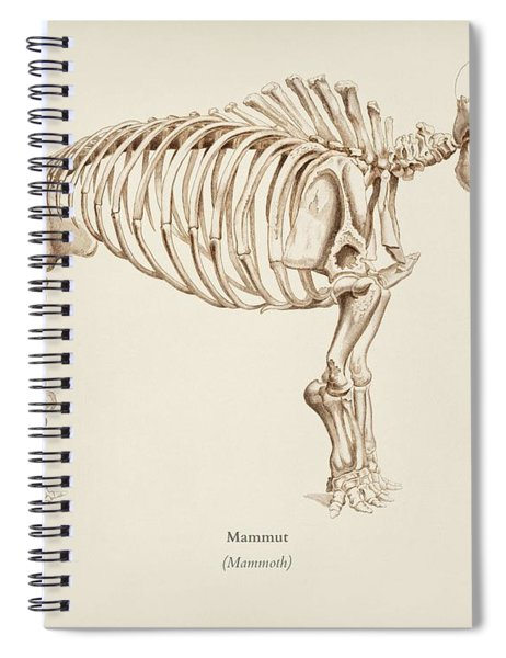 Mamoth  Mammut  Illustrated By Charles Dessalines D' Orbigny  1806-1876  Spiral Notebook