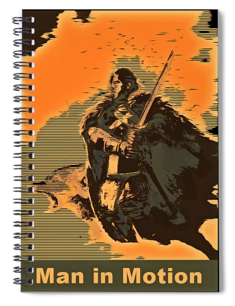 Man In Motion Spiral Notebook by Mario Carini