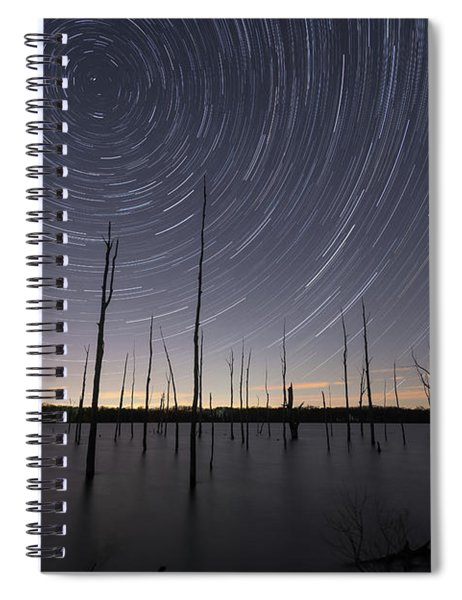 Manasquan Reservoir Star Trails  Spiral Notebook