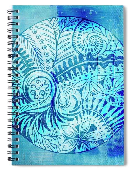 Mandala Foliage Spiral Notebook