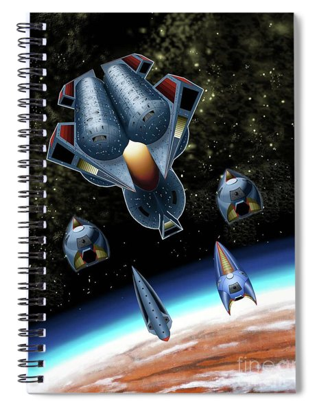 Mangle Approaches Nisip Spiral Notebook