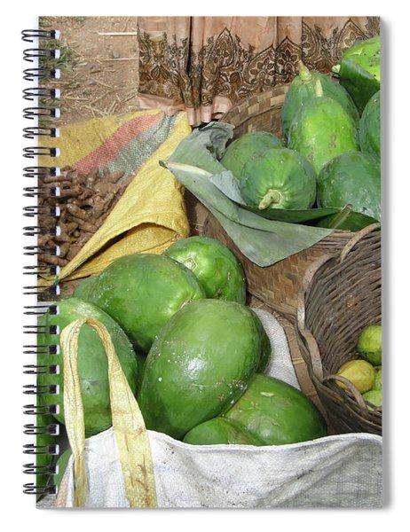 Mangos, Turmeric And Green Bananas  Spiral Notebook