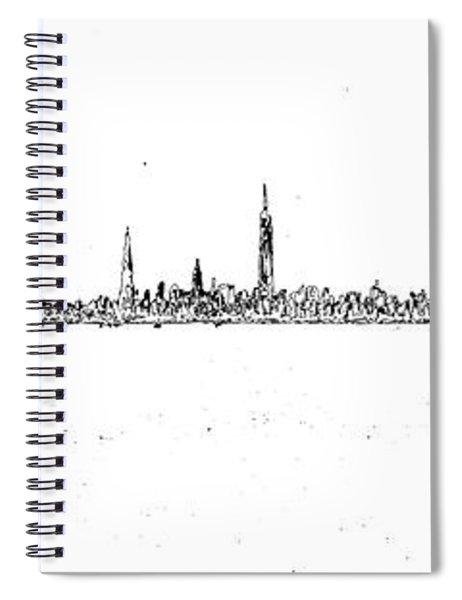Manhattan Poster Spiral Notebook