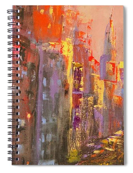 Manhattan Sunset Spiral Notebook