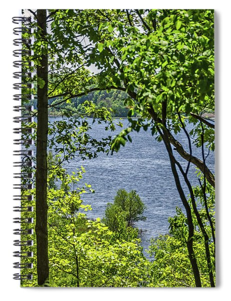 Manistee Lake Through The Trees Spiral Notebook