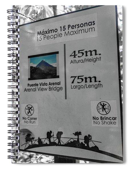 Manuel Antonio Jungle Arenal Sign Spiral Notebook