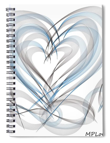 Many Hearts Spiral Notebook