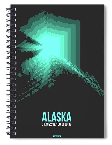 Map Of Alaska 2 Spiral Notebook