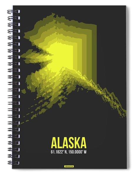 Map Of Alaska Spiral Notebook
