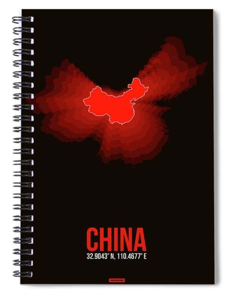 Map Of China Spiral Notebook