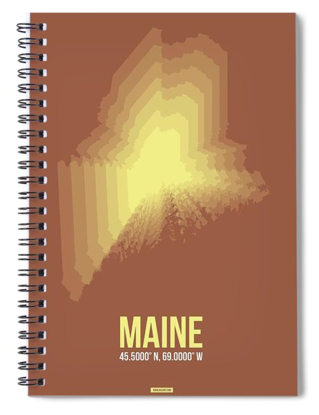Map Of Maine Spiral Notebook