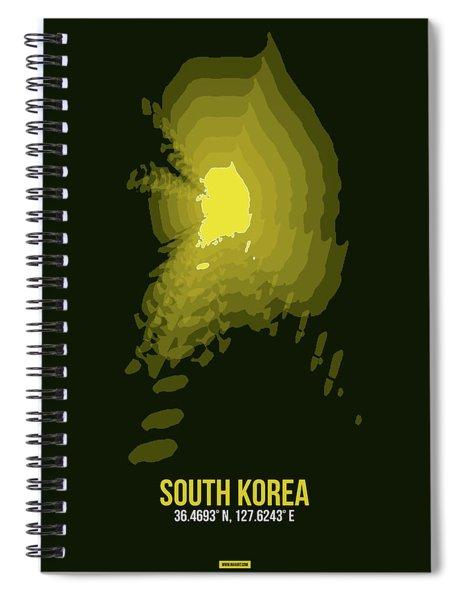 Map Of South Korea 2 Spiral Notebook