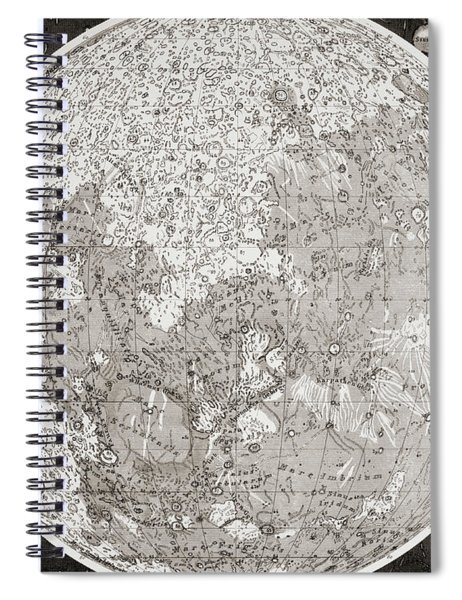 Map Of The Moon Produced In The 1830s Spiral Notebook