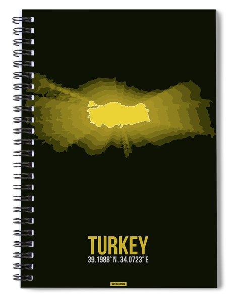 Map Of Turkey 3 Spiral Notebook
