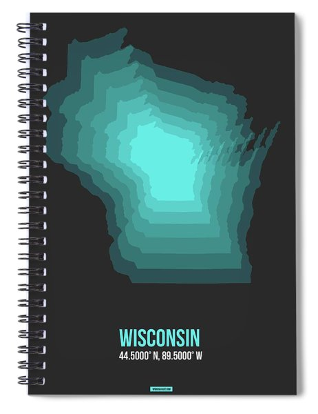 Map Of Wisconsin 3 Spiral Notebook