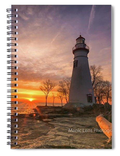 Marblehead Lighthouse Sunrise  Spiral Notebook