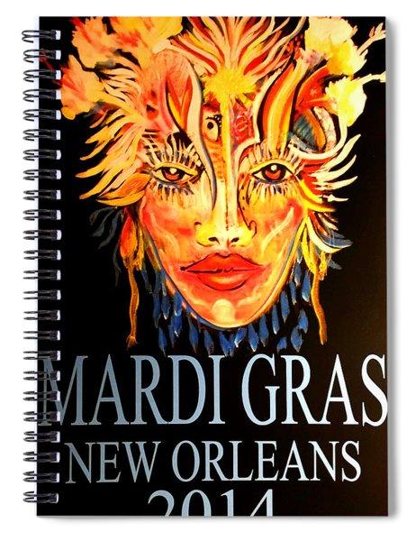 Mardi Gras Lady Spiral Notebook