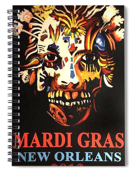 Mardi Gras Spirit 2013 Spiral Notebook