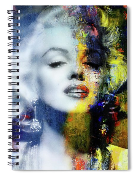Marilyn Duality Spiral Notebook