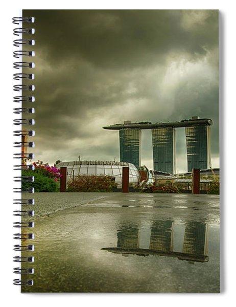 Marina Bay Sands Hotel Spiral Notebook