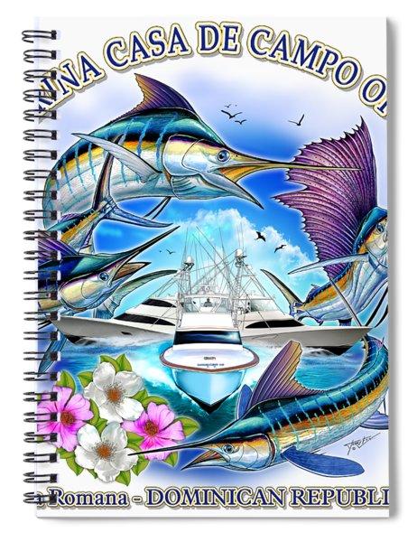 Marina Casa De Campo Open Art Spiral Notebook