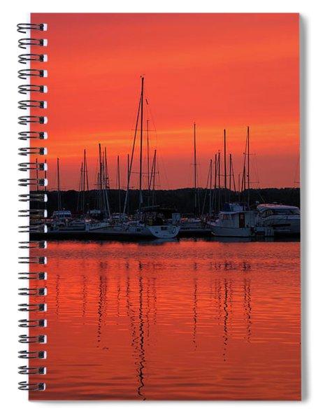 Marina Sunset In Summer Spiral Notebook