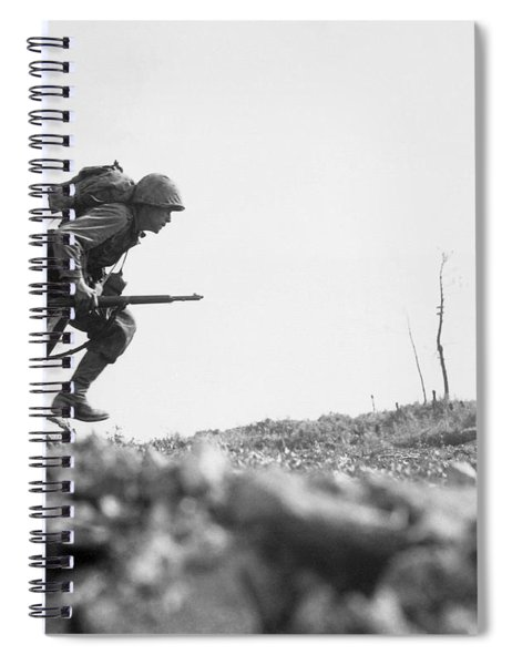 Marine Dash On Okinawa Spiral Notebook