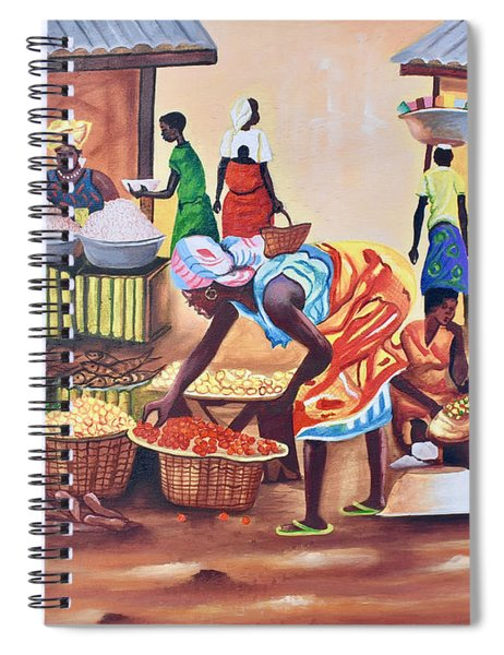 Market Place Scene Spiral Notebook