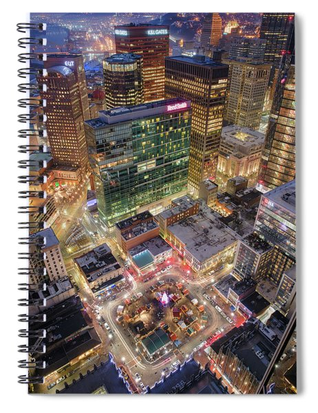 Market Square From Above  Spiral Notebook